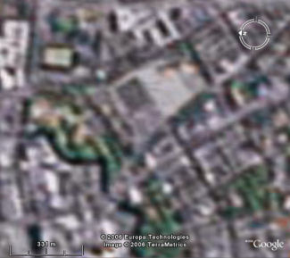 Screenshot of Google Earth showing Gothenburg before the hack.
